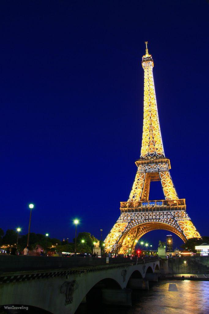 eiffel tower night view (3)