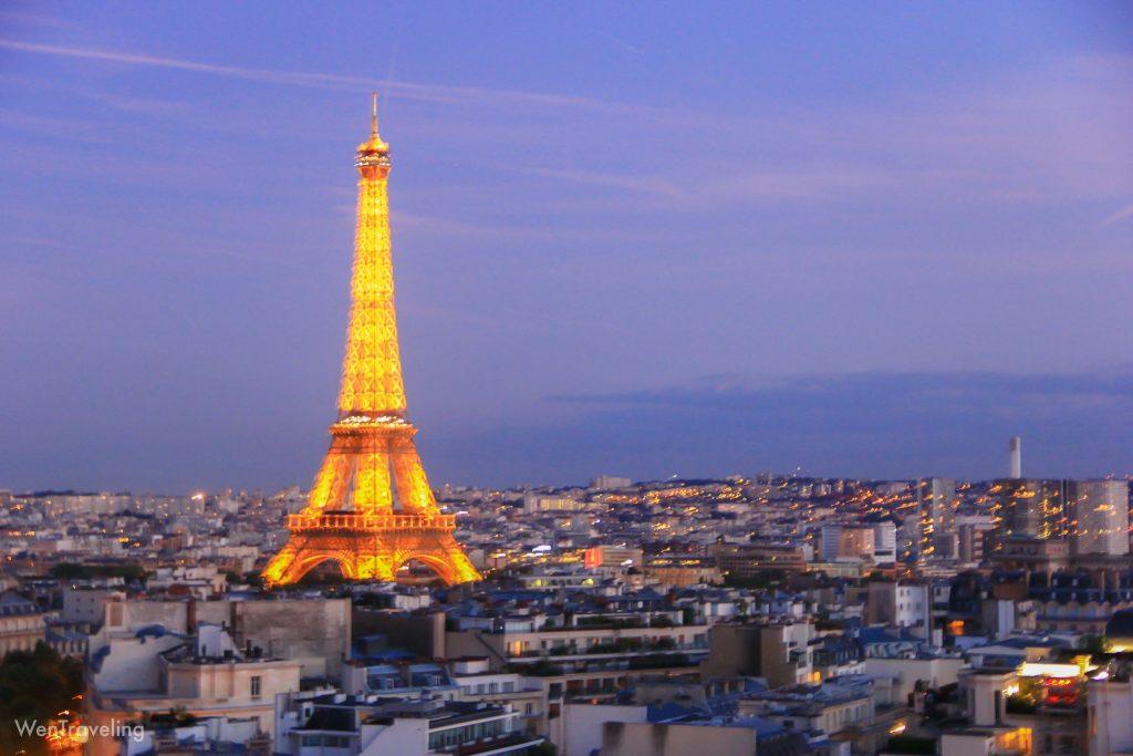 eiffel tower evening view (3)